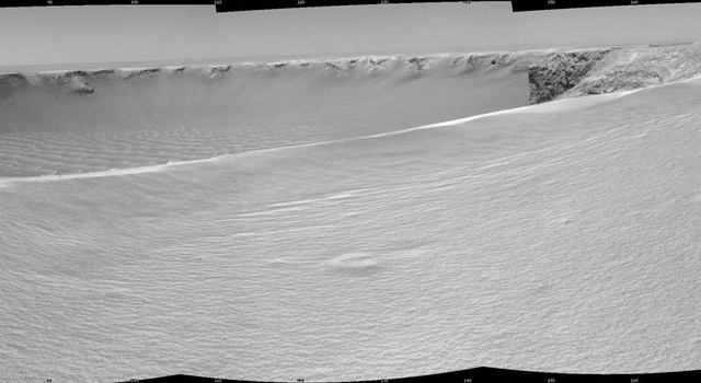Opportunity view at rim of Victoria Crater