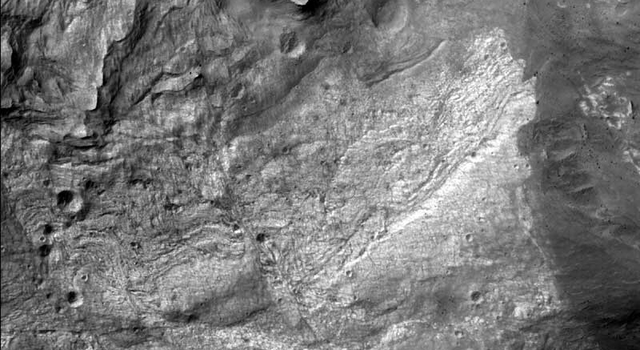 first image from high resolution camera on NASA's Mars Reconnaissance Orbiter