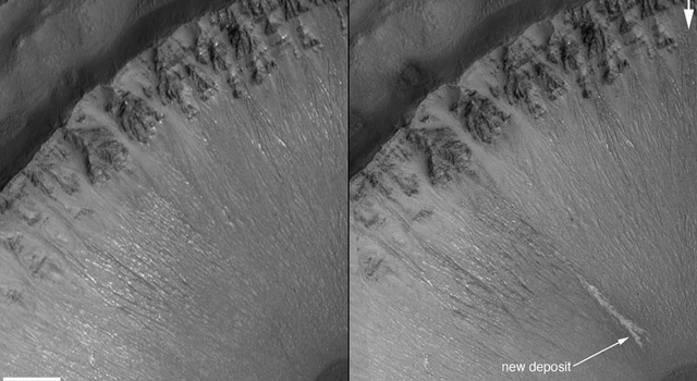 new gully deposit on Mars