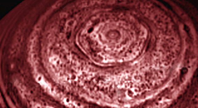 six-sided feature circling Saturn's north pole