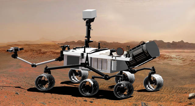 Artist concept of Mars Science Laboratory. Image credit: NASA/JPL-Caltech