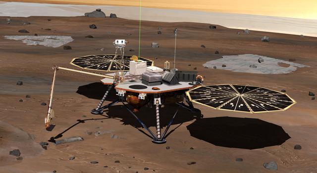 artist concept of Phoenix lander on Mars