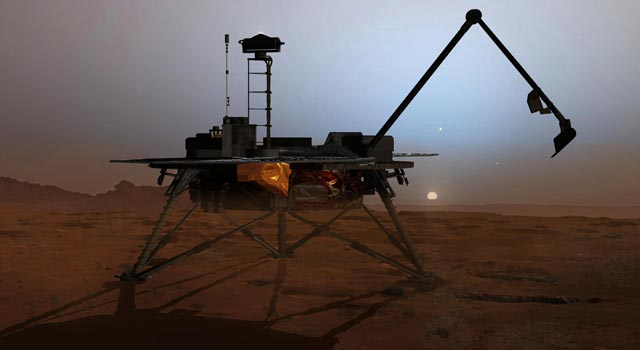 Artist concept of NASA's Phoenix Mars Lander