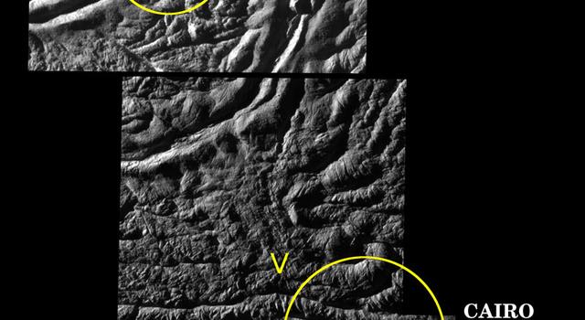 Cairo Sulcus on Enceladus