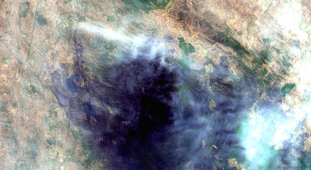 fires over Australia