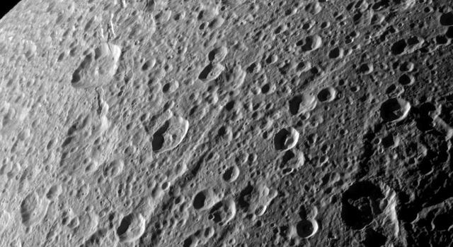 Flying Over Dione