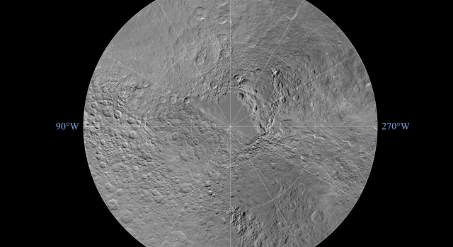 Rhea North Polar Map - November 2009