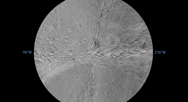 Rhea South Polar Map - November 2009