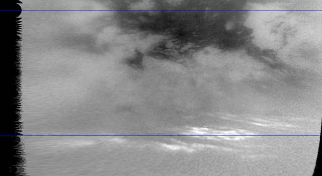 Titan's Moving Mid-Latitude Clouds
