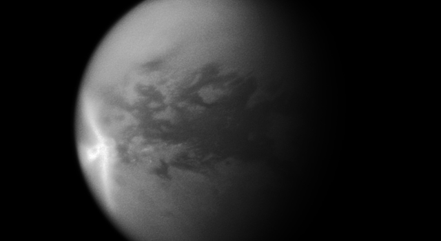 Titan's Arrow-Shaped Storm