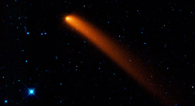 A comet like this one spends most of its long life in the darkest, coldest parts of our solar system.