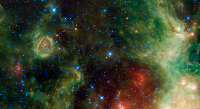 This is a view of the star-forming region IC 1795, located within the constellation Cassiopeia.