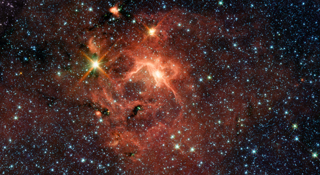 A star-forming region imaged by Spitzer