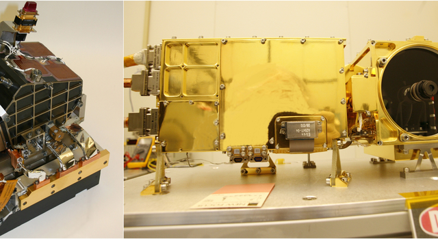 Body and Mast Units of ChemCam Instrument for Mars Rover