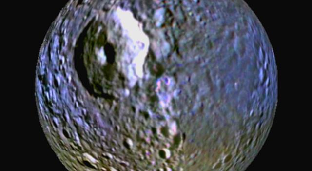 Mimas' Blue Streak