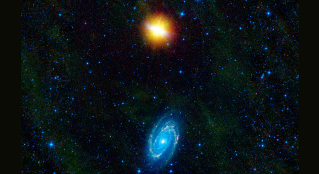 WISE Beholds a Pair of Dancing Galaxies