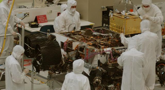 Installing SAM Instrument into Curiosity Mars Rover