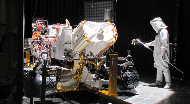 Testing of the Mars Science Laboratory, Curiosity rover