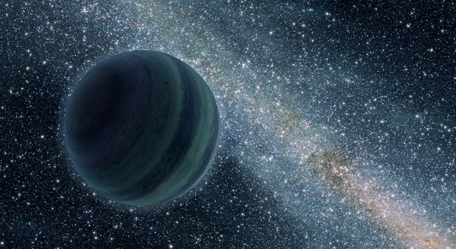Artist's concept of a free-floating planet