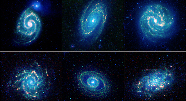 A new, colorful collection of galaxy specimens has been released by NASA's  WISE