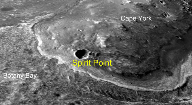 Opportunity's First Goal at Endeavour Crater: 'Spirit Point'