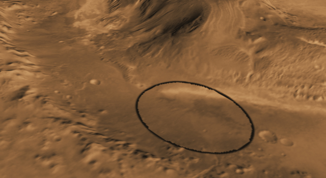 Oblique view of Gale Crater from the Northwest