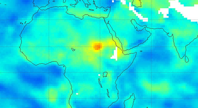NASA Satellite Tracks Severity of African Drought