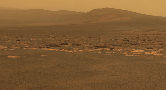 West Rim of Endeavour Crater on Mars
