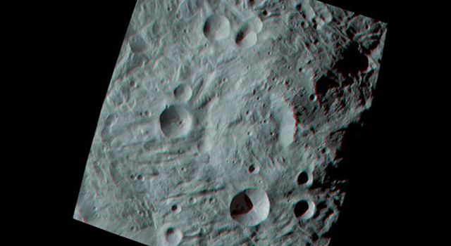 Vesta's Surface in 3D: A Big Mountain at the Asteroid's South Pole