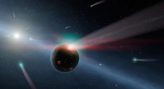 It's Raining Comets (Artist's Concept)
