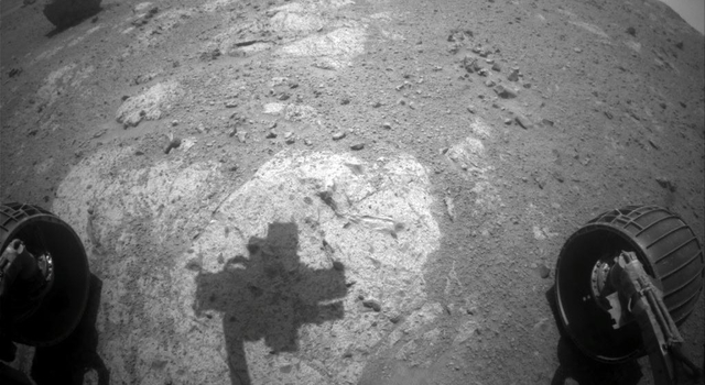 Shadow Across 'Chester Lake' on Endeavour Rim, Sol 2710