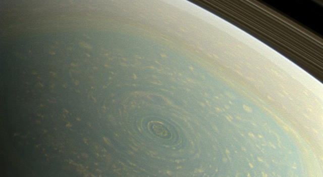 Gigantic Hurricane Spotted on Saturn  Science   NASA
