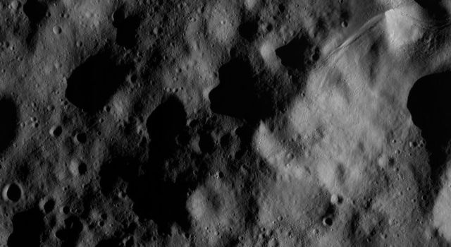 Dawn Orbiting Over Vesta