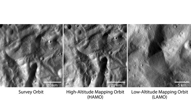 Closer and Closer to the Vesta Surface