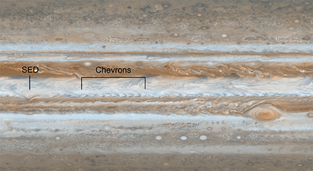 Following the path of one of Jupiter's jet streams