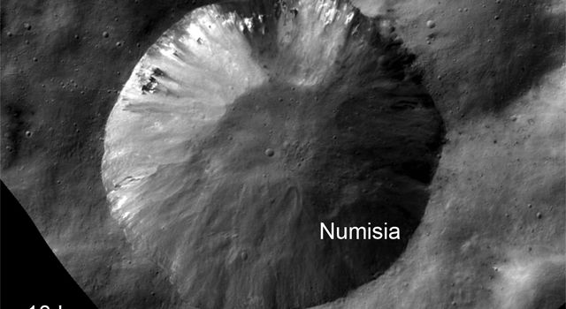 Bright Material at Numisia Crater