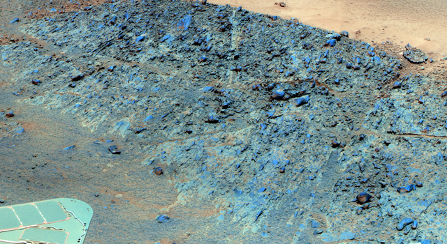 'Greeley Haven' Site for Opportunity's Fifth Martian Winter (False Color)
