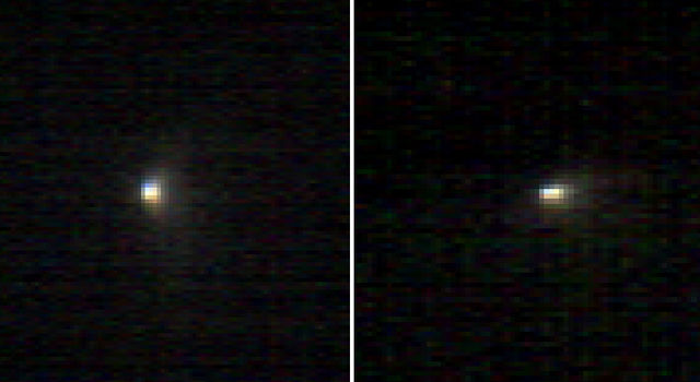 Images From Mars-Orbiting Spectrometer Show Comet's Coma