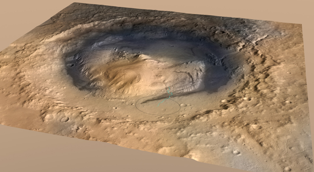 'Mount Sharp' Inside Gale Crater, Mars