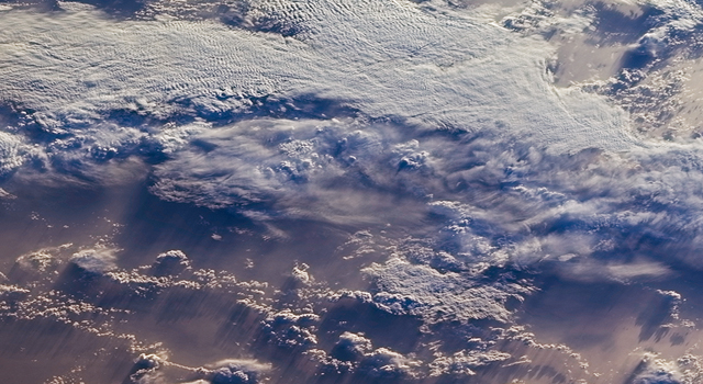 This image of clouds over the southern Indian Ocean was acquired on July 23, 2007