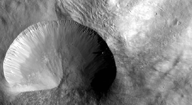 Layered Young Crater