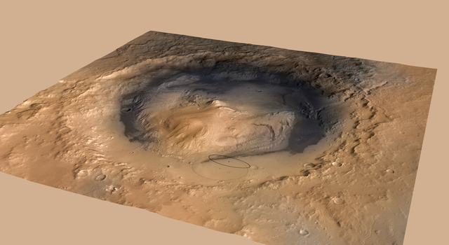 Altered Landing Target in Gale Crater, Mars