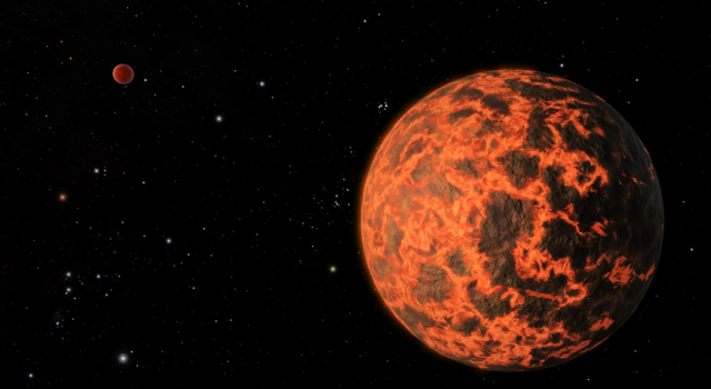 Exoplanet is Extremely Hot and Incredibly Close (Artist's Concept)