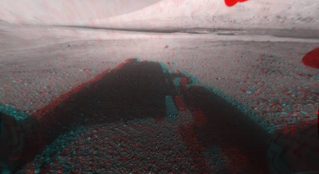 3-D View from Behind Curiosity