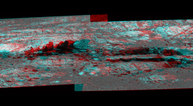 Opportunity Eyes Rock Fins on Cape York, Sol 3058 (Stereo)