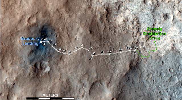 Curiosity's Travels Through Sol 56