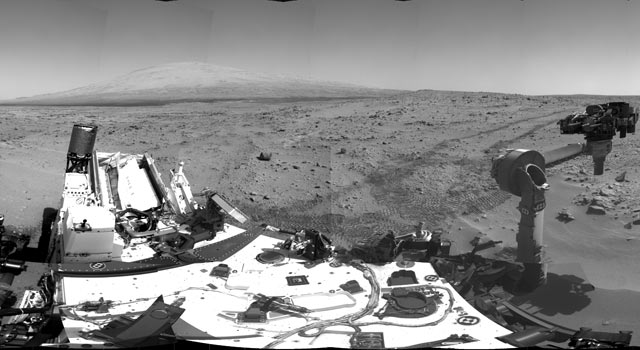 Curiosity's Location During First Scooping