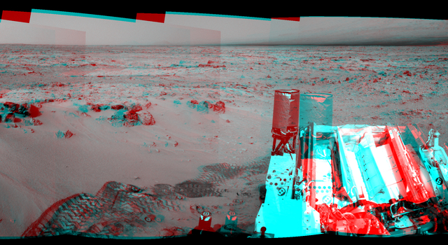 Curiosity's Eastward View After Sol 100 Drive, Stereo