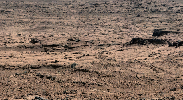 Panoramic View From 'Rocknest' Position of Curiosity Mars Rover