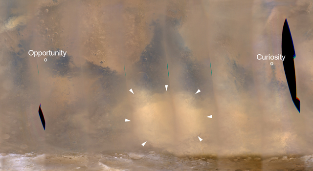 Regional Dust Storm Weakening, Nov. 25, 2012